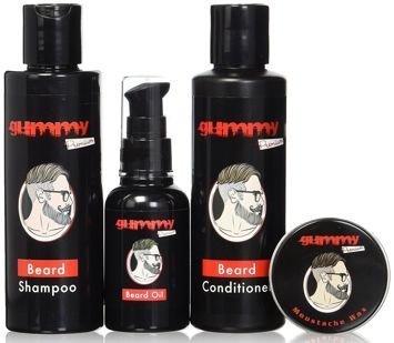FONEX GUMMY Beard & Moustache Set  Premium Profesjonalny zestaw do pielęgnacji i stylizacji brody i wąsów 4w1