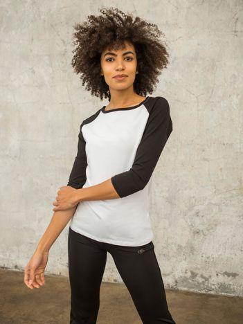 FOR FITNESS Biało-czarna bluzka Chloe