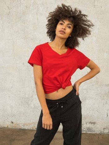 FOR FITNESS Czerwony t-shirt Layla