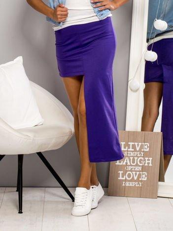 Fioletowa asymetryczna spódnica