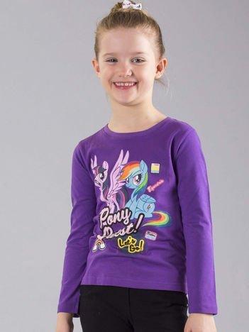 Fioletowa bluzka dziewczęca z nadrukiem MY LITTLE PONY
