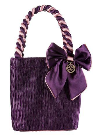 Fioletowa elegancka kosmetyczka