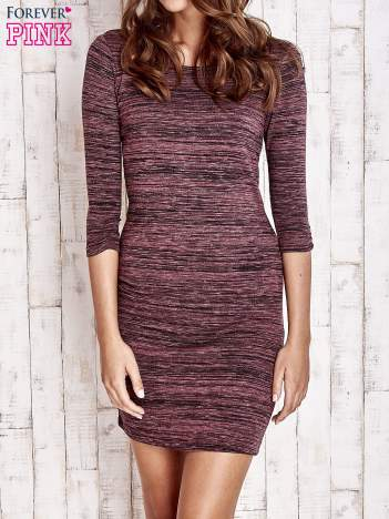 Fioletowa prosta melanżowa sukienka