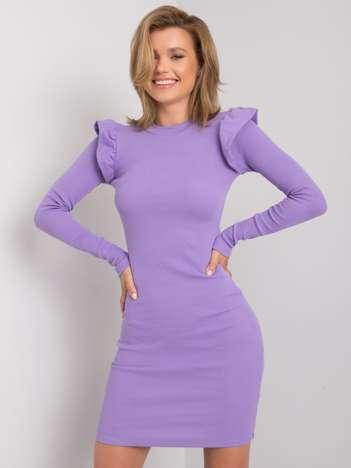 Fioletowa sukienka dopasowana Nala