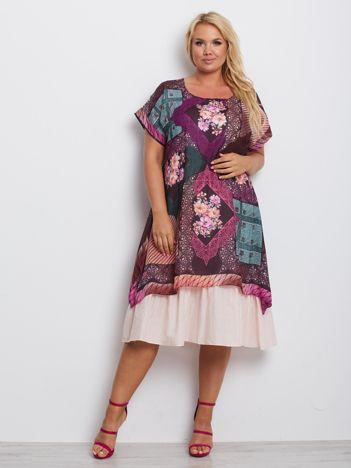Fioletowa sukienka plus size Massachusetts
