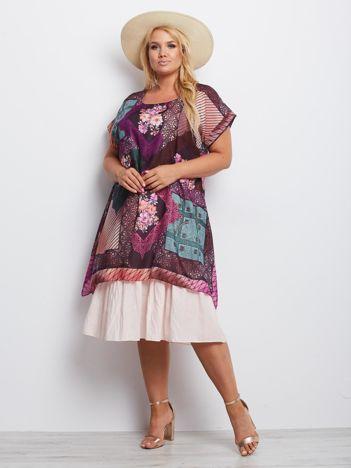 Fioletowa sukienka plus size Minnesota