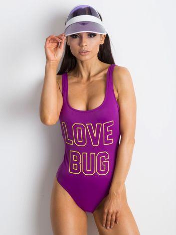 Fioletowy kostium kąpielowy Chillin