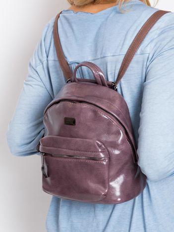 Fioletowy plecak z eko skóry