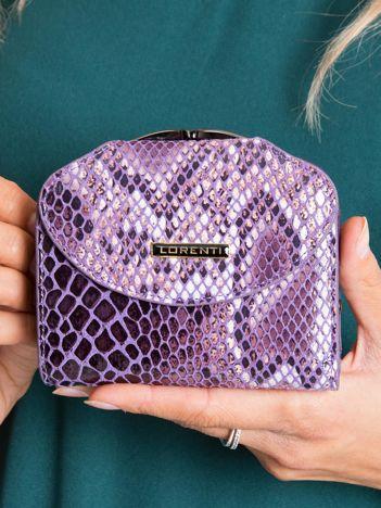 Fioletowy skórzany portfel