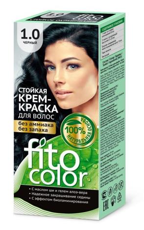 Fitocosmetics Fitocolor Naturalna Farba-krem do włosów nr 1.0 czarny