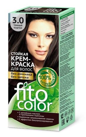 Fitocosmetics Fitocolor Naturalna Farba-krem do włosów nr 3.0 ciemny kasztan