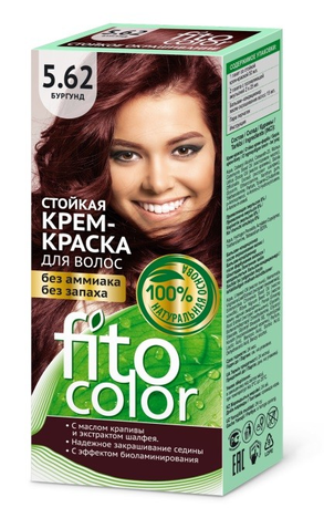 Fitocosmetics Fitocolor Naturalna Farba-krem do włosów nr 5.62 burgund