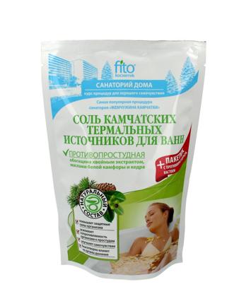 """Fitocosmetics Sól do kąpieli kamczacka """"gorące źródła"""" przeciw przeziębieniom 530 g"""