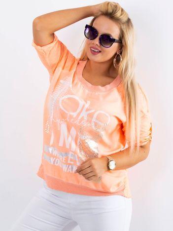 Fluo pomarańczowa bluzka Presence PLUS SIZE