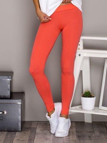 Fluo pomarańczowe legginsy basic