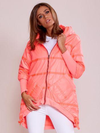 Fluo różowa kurtka z szerokimi ściągaczami