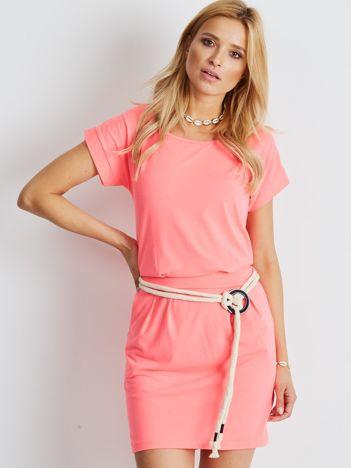 Fluo różowa sukienka Missoula