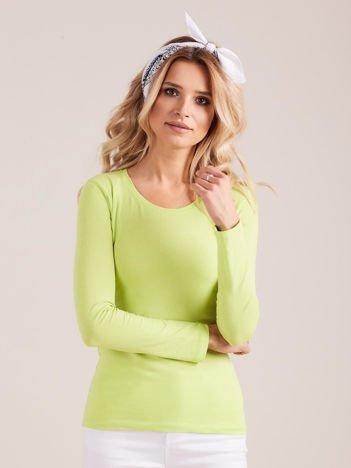 Fluo zielona bluzka z długim rękawem
