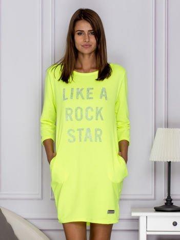 Fluo zielona sukienka LIKE A ROCK STAR