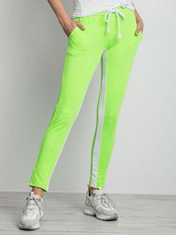 Fluo zielone spodnie dresowe Defined