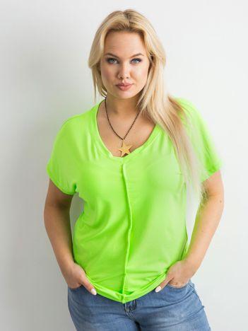 Fluo zielony t-shirt PLUS SIZE