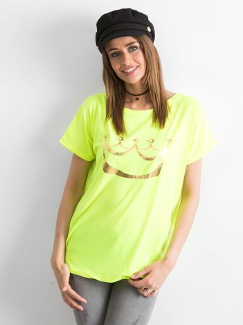 Fluo żółty t-shirt Kingdom