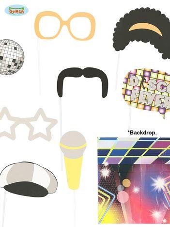 Foto rekwizyty w stylu disco