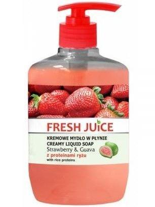 Fresh Juice Kremowe Mydło w płynie Strawberry & Guava z proteinami ryżu 460ml