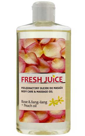 Fresh Juice Pielęgnacyjny Olejek do masażu Rose & Ilang Ilang+Peach Oil 150ml