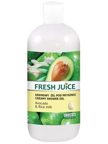 """Fresh Juice Żel pod prysznic kremowy Avocado i Mleko Ryżowe 500ml"""""""