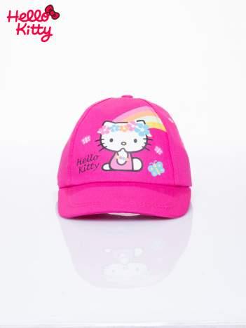 Fuksjowa czapka z daszkiem dla dziewczynki motyw HELLO KITTY
