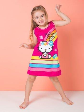 Fuksjowa sukienka dla dziewczynki HELLO KITTY