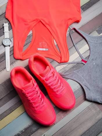 Fuksjowe buty sportowe faux leather Milkshake na poduszce powietrznej