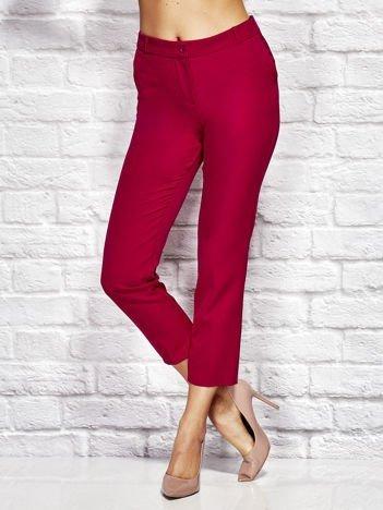 Fuksjowe spodnie cygaretki