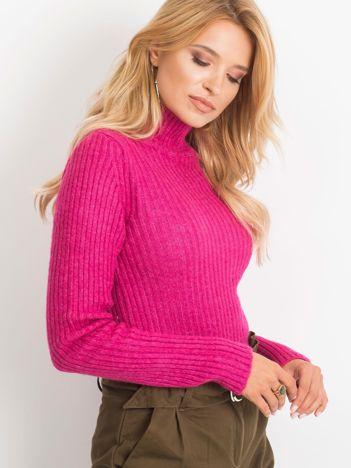 Fuksjowy sweter Milo