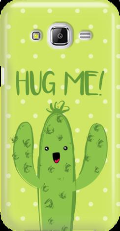 Funny Case ETUI SAMSUNG J5 J500 CACTUS HUG ME