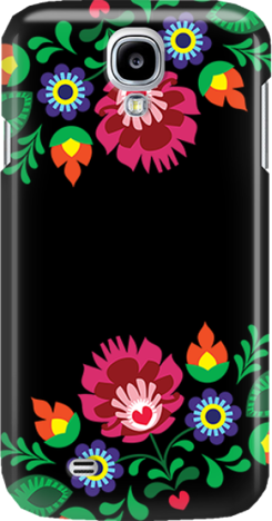 Funny Case ETUI SAMSUNG S4 FOLK BLACK
