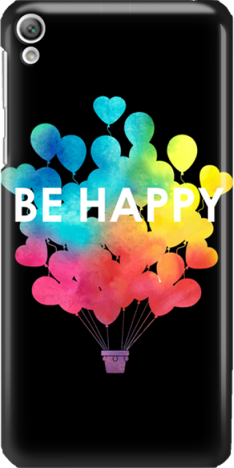 Funny Case ETUI SONY XPERIA E5 BE HAPPY