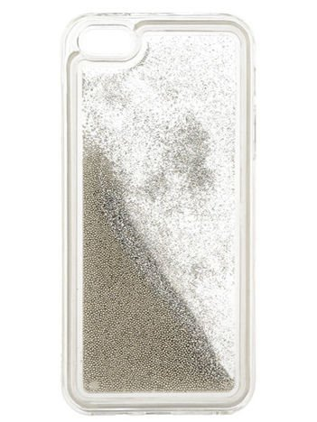 Funny Case Etui GUMA LIQUID PEARL IPHONE 5G SREBRNY