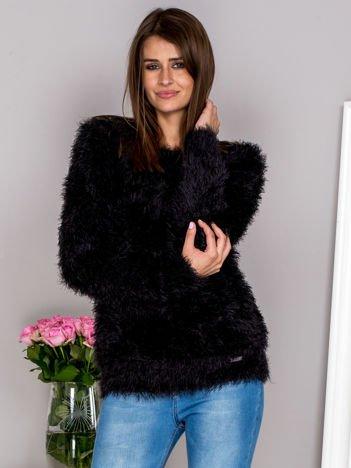 G by BACZYŃSKA Czarny włochaty sweter