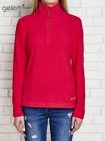 GELERT Różowa bluza dla dziewczynki ze stójką