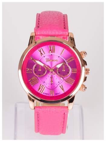 GENEVA Damski zegarek z ozdobnym datownikiem na tarczy