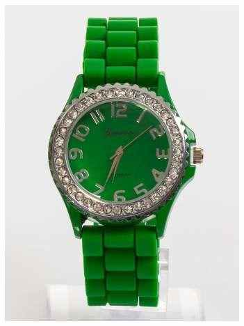 GENEVA Zielony zegarek damski na silikonowym pasku
