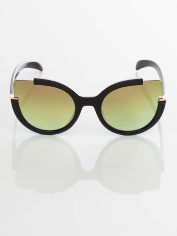 GLAM FASHION okulary przeciwsłoneczne lustrzanki CAT EYE HIT!