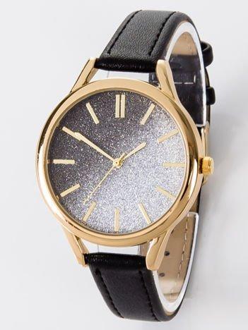 GLITTER OMBRE czarny zegarek damski