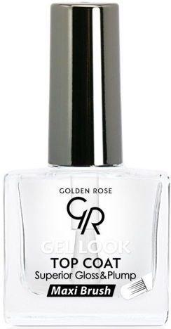 GOLDEN ROSE Gel Look Top Coat Żelowy utwardzacz 10,5 ml
