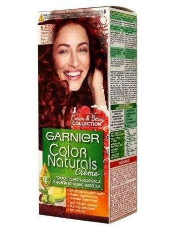Garnier Color Naturals Krem koloryzujący nr 6.60 Ognista Czerwień