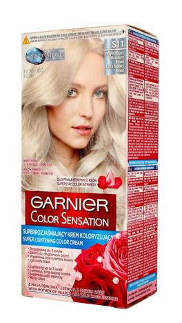"Garnier Color Sensation Krem koloryzujący S 11 Przydymiony Ultrajasny Blond  1op."""