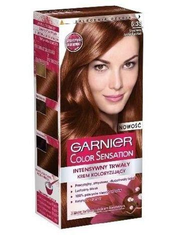 Garnier Color Sensation Krem koloryzujący do włosów 6.35 Szykowny Jasny Kasztan