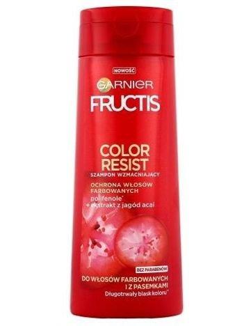 Garnier Fructis Szampon wzmacniający do włosów farbowanych i z pasemkami Color Resist  400 ml